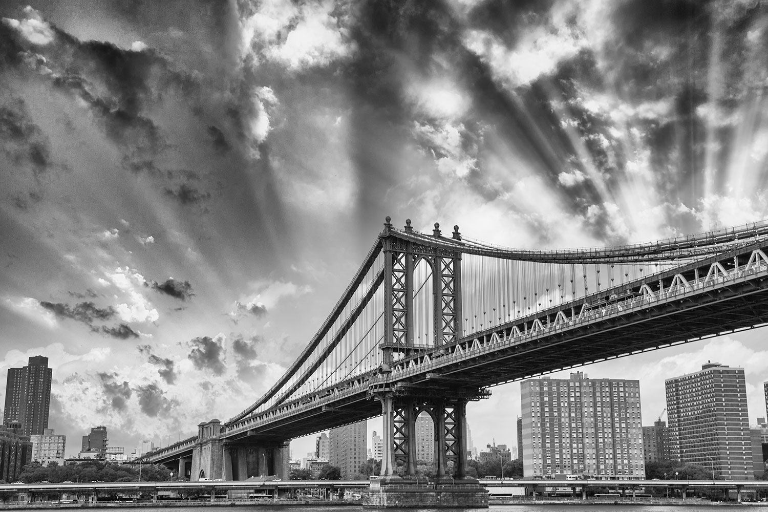 XXL Stoffbild Manhattan Bridge